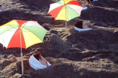 Natural sand bath spots
